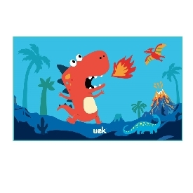 Uek towel - dino blue