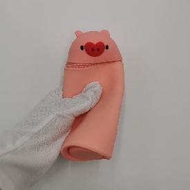U-fun pencil pouch : piggy peach pink (s)