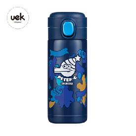 กระติกน้ำเก็บอุณหภูมิใบเล็ก - จรเข้ผจญภัย สีน้ำเงิน