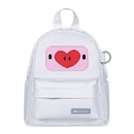 U-fun kids backpack - piggy peach white