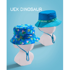 Uek leisure hat - dinosaur blue