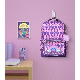 กระเป๋าเป้นักเรียน รุ่นshell - กระต่าย สีม่วง