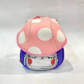 Kindergarten backpack mushroom - cat white (s)