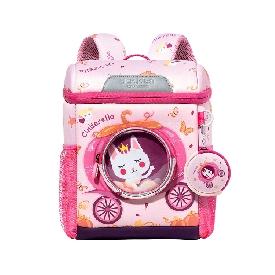 Uek กระเป๋าเป้อนุบาล - รถเจ้าหญิงสีชมพู  (l)