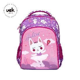กระเป๋าเป้นักเรียน รุ่น polyester - บัลเล่ต์ สีม่วง/ชมพู (xl)