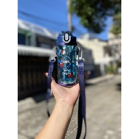 Water bottle portable - pirate blue
