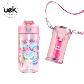 Water bottle portable - donus pink