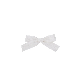 Mini rosie white headband