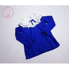 ชุดเดรส maria - สีน้ำเงิน