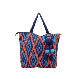 กระเป๋าผ้าช้อปปิ้ง m ช้าง ลาย mudmee