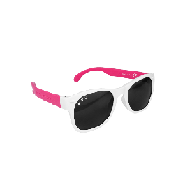 แว่นกันแดดเด็ก ro.sham.bo รุ่น baby สำหรับ 0 - 3 ขวบ  สีขาวขาชมพู (rainbow brite)