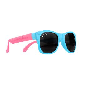แว่นกันแดดเด็ก ro.sham.bo รุ่น baby สำหรับ 0 - 3 ขวบ สีฟ้าขาชมพู (fresh prince ss)