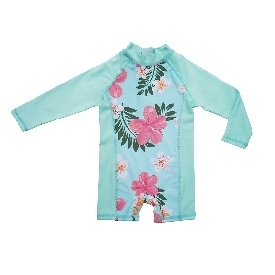 Swimming suit long sleeve - Flower