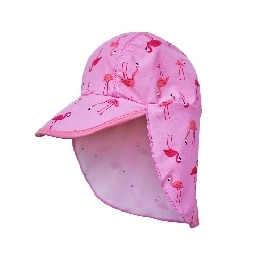 Flap hat - flamingo