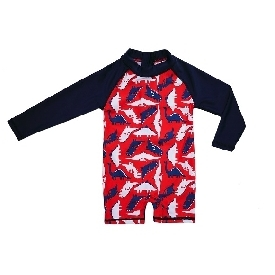 Swimming suit long sleeve - dinosaur