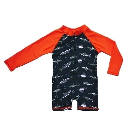 Swimming suit long sleeve - Shark