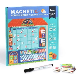 Wooden magnetic reward activity responsibility chart
