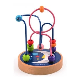 Mini wooden beads maze - moon