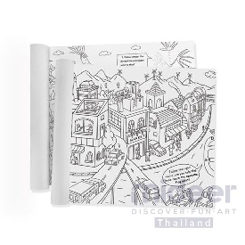 Mideer giant coloring roll - city