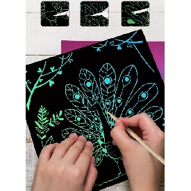 Scratch art card - animal
