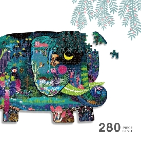 Huge animal-shaped puzzle elephant dream 280 pcs