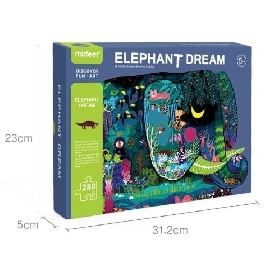 Huge animal-shaped puzzle elephant dream 280 pcs