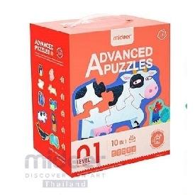 Mideer มีเดียร์ 10 in 1  advanced puzzle step 1 จิ๊กซอว์รูปสัตว์เสริมสร้างพัฒนาการการเรียนรู้