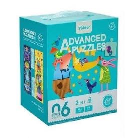 Mideer มีเดียร์  2  in 1  advanced puzzle step 6 จิ๊กซอว์ย้าวยาว สำหรับเด็กโต