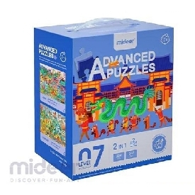 Mideer มีเดียร์  2  in 1  advanced puzzle step 7 จิ๊กซอว์เสริมสร้างการเรียนรู้ภูมิศาสตร์