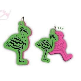 Motif word cards - flamingo