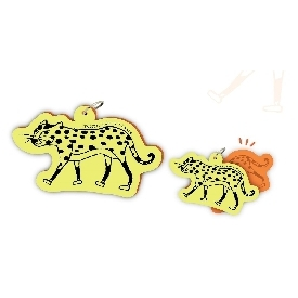 Motif word cards - leopard