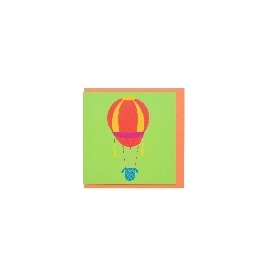 Mini wish card - hot air balloon