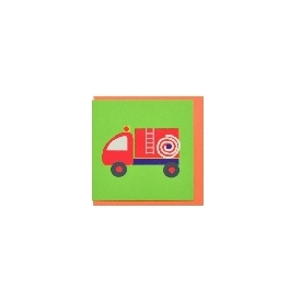 Mini wish card - fire engine