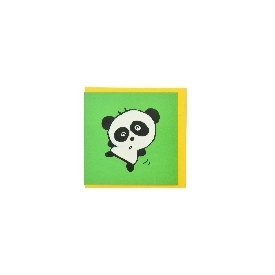 Mini wish card - dancing panda