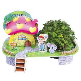 จิ๊กซอว์บ้านสามมิติ  mini mushroom house