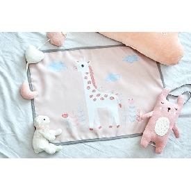 Car sunshade uv protection - giraffe pink