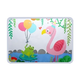 Car sunshade with suction cups- flamingo