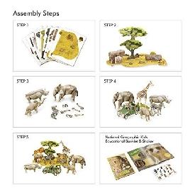 จิ๊กซอว์ 3 มิติ: โลกสัตว์ป่าแอฟริกา