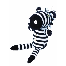 Diy sock - zebra
