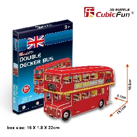 Free gift 3d puzzle double decker bus