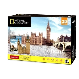 3d puzzle with national geographic booklet - big ben (london)