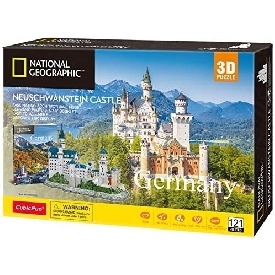 3d puzzle with national geographic booklet - neuschwanstein (germany)