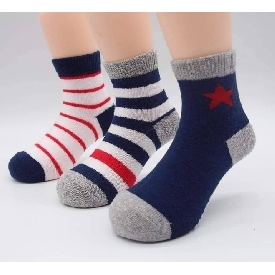 Kids sock - star stripe navy set (pack 3 pairs)