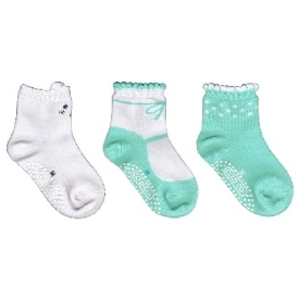 Kids sock - white bear set (pack 3 pairs)