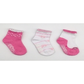 Kids sock - sweet pink set  (pack 3 pairs)