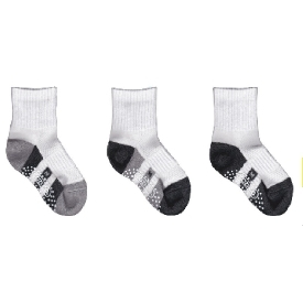 Kids school sock -stripe (pack 3 pairs)