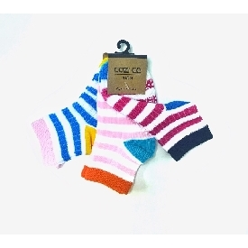 Kids sock - colorful stripe girls set (pack 3 pairs)