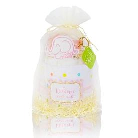 ชุดของขวัญเด็กแรกเกิด diaper cake - girl (m)