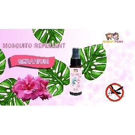 Monkeypony mosquito repellent spray 60 ml. - geranium