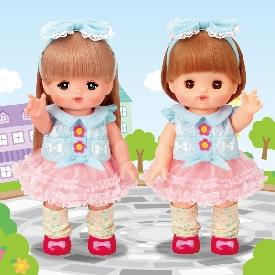Mell chan dress up kit - blue denim dress-up set